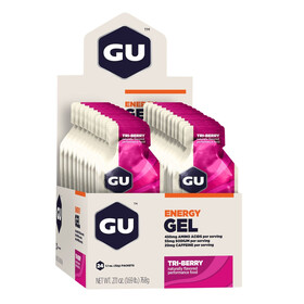 GU Energy Gel Box Tri Berry 24x 32g